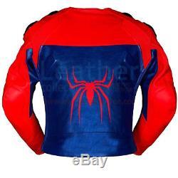 Spiderman 2018 Motorbike Motorcycle Leather Race Suit