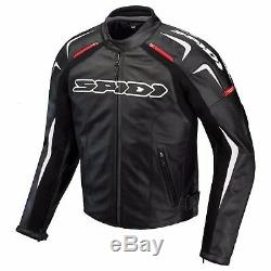 Spidi Track Leather Jacket Motorcycle Road Bike Waterproof Jacket Rrp £399