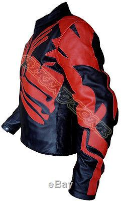 Star Wars High Quality Mens Ce Armours Motorbike / Motorcycle Leather Jacket
