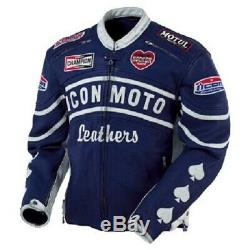 Steve McQueen Icon Retro Daytona Leather Jacket with CE Approved Armor