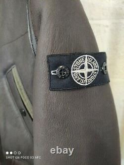 Stone Island Junior Hooded Leather Sheepskin Jacket