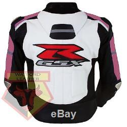 Suzuki 1078 Women's/men's Motorbike Motorcycle Cowhide Leather Armoured Jacket