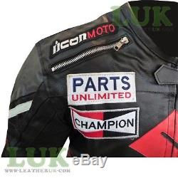 Suzuki 4269 Premium Black Cowhide Leather Biker Jacket Motorcycle Motorbike Coat
