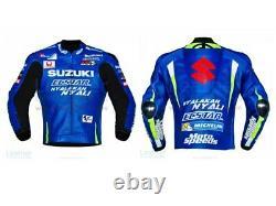 Suzuki ECSTAR Motorbike Leather Jacket Motorcycle Bikers Racing Sports Jackets