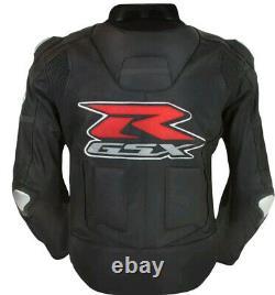 Suzuki GSXR Men Motorbike Leather Jacket Motorcycle Bikers Racing Sports Jackets