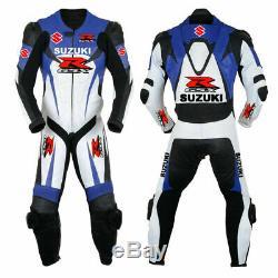 Suzuki GSXR Motorcycle Suit Printed Leather Motorbike Sport Biker Racer Armour
