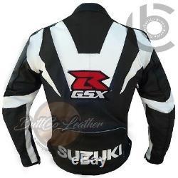 Suzuki GSXR Original Black Leather Suit, Jacket & Trouser Biker Motorcycle Gear