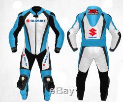 Suzuki Gsxr Mens Motorcycle Leather Suit Motogp Motorbike Leather Jacket Trouser