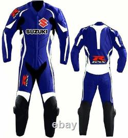 Suzuki Gsxr Mens Racing Motorcycle Leather Suit Motorbike Leather Jacket Trouser