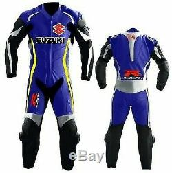 Suzuki Gsxr Motorcycle Leather Suit Men Moto Gp Motorbike Leather Jacket Trouser