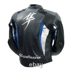 Suzuki Hayabusa Motorbike Leather Jacket CE Approve Full Protection, Racing Bike