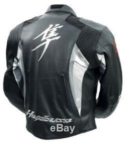 Suzuki Hayabusa Motorcycle Racing Leather Jacket
