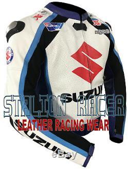 Suzuki Motorbike/motorcycle Racing Cowhide Leather Jackets