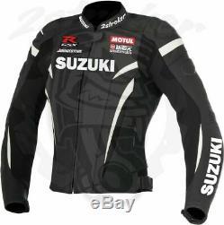 Suzuki Motorcycle Leather Jacket Motorbike Racing Leather Biker Jacket All Sizes