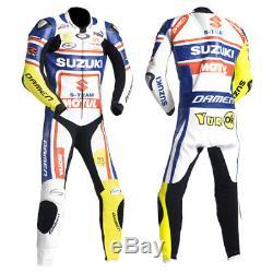 Suzuki Motorcycle Leather Suit Motorbike Leather Suit Men Racing Leather Jacket