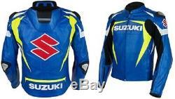 Suzuki motorcycle leather jackets Motorbike jackets Racing Biker jackets