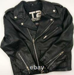 T2 Terminator 2 3D Battle Across Time Universal Florida Black Jacket Kids Sz 12