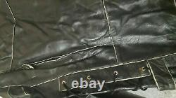 Terminator Brando Vintage Motorcycle Biker Coat Genuine Leather Jacket For Men's