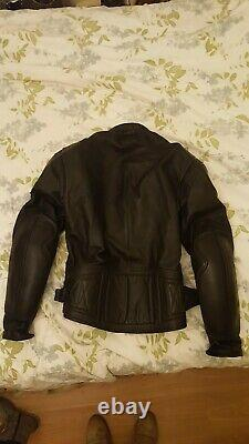 The Classic, Belstaff black leather motorcycle jacket 46