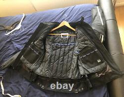 Triumph Leather Motorcycle Jacket, Size 42 Chest Black VIPER JACKET