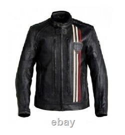 Triumph Motorcycle Racing Motor Bike Leather Jacket. CE Approved Padding