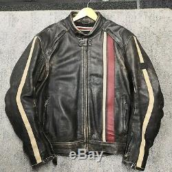 Triumph Raven 2 Leather Motorcycle Jacket, XLARGE