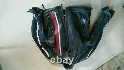 Triumph Raven 2 MLHS17321 Leather Motorcycle Jacket, Size M Black