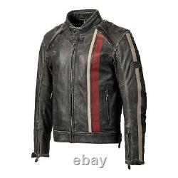 Triumph Raven 2 Vintage Black Leather Motorcycle Jacket New MLHS17321