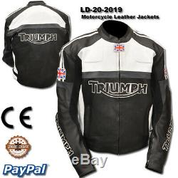 Triumph motorcycle leather racing jacket LD-20-2019 (US 38-48)