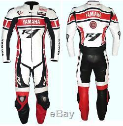 Two piece leather suit YAMAHA R1 MOTORBIKE RACING LEATHER YAMAHA R1 Jacket&Pants