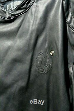 Used BILLIONAIRE BOYS CLUB WOLFMAN Motorcycle PHARRELL Black Leather Jacket LG