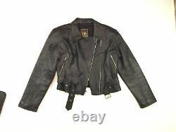 VTG 80s BOY LONDON AEROSMITH STEVEN TYLER Leather Biker Unisex Jacket Large Q2