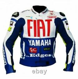 Valentino Rossi 46 Motorcycle Leather Jacket Men Bikers Racer Motorbike Sports