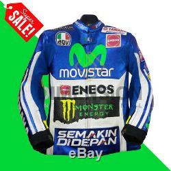 Valentino Rossi VR 46 Motorcycle Motorbike Leather Racing Moto GP Jacket