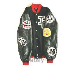 Vintage Billionaire Boys Club Ice Cream Black And Red Bomber Jacket L