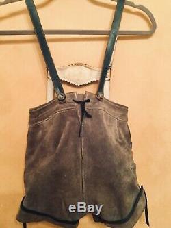 Vintage Boy's Lederhosen (65) With Jacket (7) & Alpine Hat/Pins Germany Austria