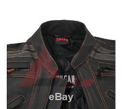 Vulcan VTZ-910 Street Motorcycle Leather Jacket riding Jacket Fashion Jacket