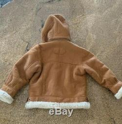 Walter Davoucci Suede Leather Shearling Jacket Size 2-4 Boys Kids
