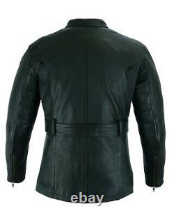 Warrior Mens PREMIUM Motorcycle CE Armour Genuine Cowhide Leather Bikers Jacket
