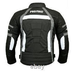 Waterproof Motorcycle Motorbike Suit Armour Jacket Trouser Gloves Boots Grey