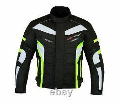 Waterproof Motorcycle Motorbike Suit Cordura Jacket Trouser Gloves Boots Green
