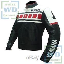 YAMAHA 6728 Black Motorbike Motorcycle Armour Coat LEATHER BIKE JACKETS FOR SALE