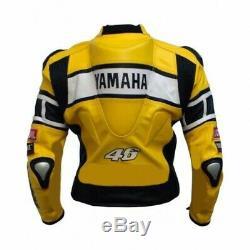 YAMAHA Biker Motorcycle Leather Jacket Men's Motorbike Racing Leather Jackets 50