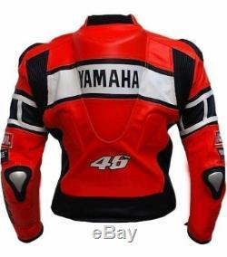 YAMAHA Biker Racing Leather Jacket Motorcycle/Motorbike Leather Jackets Mens