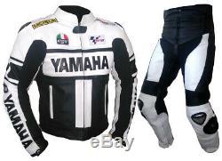 YAMAHA Mens Racing Biker Leather Suit Motorbike/Motorcycle Leather Jacket Pant