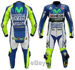 YAMAHA Motorbike/Motorcycle Leather Suit Biker Mens Racing Leather Jacket Pant