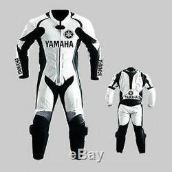YAMAHA Motorbike/Motorcycle Leather Suit Mens Biker Racing Leather Jacket Pant