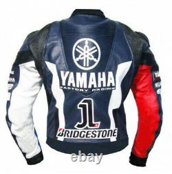 YAMAHA Motorcycle Leather Jacket Motorbike Leather Jacket Leather Biker Jackets