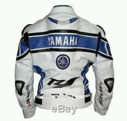 YAMAHA R1 Leather Jacket Motorbike Jacket Men Racing Motorcycle Leather Jacket