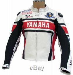 YAMAHA Racing Motorbike Leather Jacket Biker Motorcycle Mens Leather Jackets